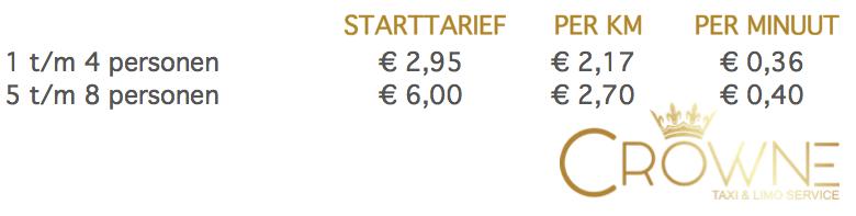 taxi tarieven amsterdam